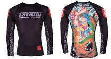 New Tatami Japan Series MMA BJJ Jiu Jitsu Rashguard LS - Samurai - Medium M
