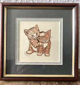 Etched Elegance - The Perspectives Silhouette - Tabby Cat Print Picture Vintage