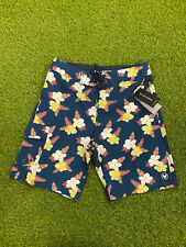 New With Tags-HSD KIRRA Austraila-Mens blue Floral Pattern Shorts Size 30