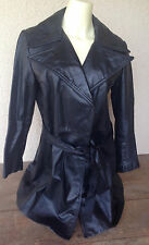 Imperial Leather Sportswear Black CA Jacket Coat Womens Wrap 13/14 1960s Vintage