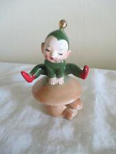 Vintage Elf on a Mushroom