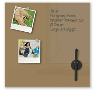 Best-Rite Mosaic Magnetic Glass Markerboard Tiles 16 by 16-Inch Coffee