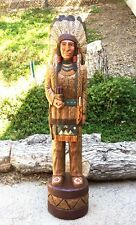John Gallagher Carved Wooden Cigar Store Indian 5 ft.Tall very detailed