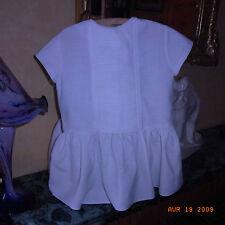 "ROBE FILLETTE BLANCHE ""MATERNA PARIS"" VINTAGE 60/ VINTAGE 60 WHITE GIRL DRESS"