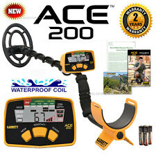 NEW Garrett ACE 200 With WATERPROOF Search Coil And ** FREE SHIPPING ! **