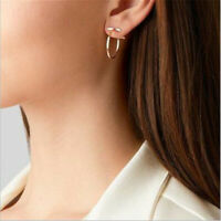 New Simple Women Circle Round Ear Studs Earring Minimalist Gold Earrings Jewelry