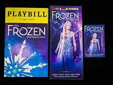 Disney's FROZEN Broadway Musical Playbill & Flyers. Caissie Levy, Dec 2019