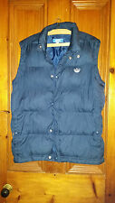 MENS TEENAGER BOYS ADIDAS FEATHER FILLED BODY WARMER / GILLET NAVY BLUE 46 CHEST