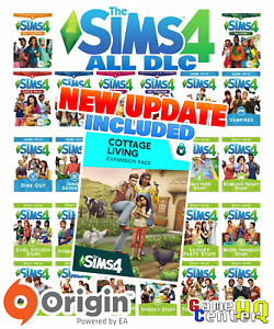 ⭐️The Sims 4 ALL Expansion Packs DLC⭐️ Cottage Living included [PC/MAC] Origin