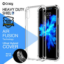 Crazy For iPhone X 8 7 6 Plus 5 Hybrid Case Shock Proof Clear Heavy Duty Cover