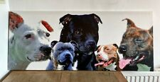 More details for staffordshire bull terrier print. 122 cms x 51 cms.