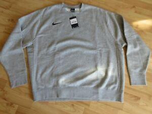 NIKE Herren Sweatshirt Sweater Pullover Gr. XXL grau superweich - NEU -