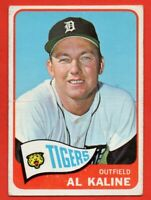 1965 Topps #130 Al Kaline VG-VGEX+ CREASE HOF Detroit Tigers FREE SHIPPING