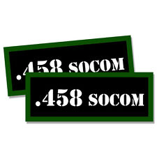 ".458 SOCOM Ammo Can 2x Labels Ammunition Case 3""x1.15"" stickers decals 2 pack"