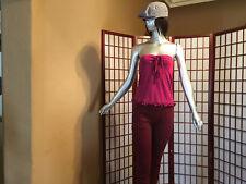 Arizona Strapless Red Violet Hue Tube Top Jrs Apparel Sze M Cotton Garment