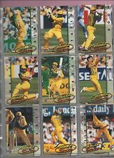 Futera CRICKET 1995 from Australia complete set all in nine card pages