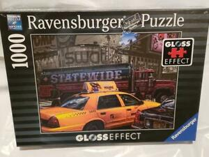 NWT Ravensburger 194438 Yellow Taxi 1000-Piece Jigsaw Puzzle Gloss Effect