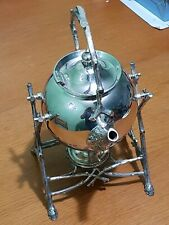 Antique Silver Plated Naturalistic Spirit Kettle on Stand J.G. Graves