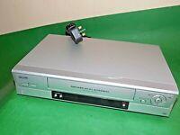 SANYO VCR VHS VIDEO CASSETTE RECORDER Vintage VHR-H794 Silver Smart Fully Tested