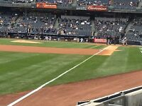 4 Front Row Field Level Section 130 New York Yankees Tickets 4/12 v Tampa