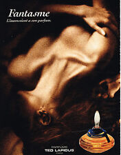 PUBLICITE ADVERTISING 025  1992  TED LAPIDUS  parfum  FANTASME
