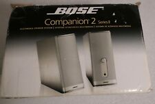 BOSE COMPANION TWO SERIES 11 SPEAKERS IN BOX BLACK USED