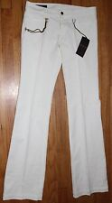 AUTHENTIC! $625 GUCCI WHITE 70'S 5POCKET WITH CHAIN PANTS SZ 42UK/ 6US