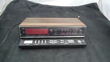 Vintage Realistic Chronomatic 259 Alarm Clock Radio Red LED 12-1566 Working