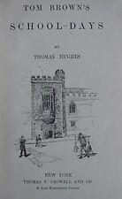 TOM BROWN'S SCHOOL DAYS, 1908 BOOK - TOM BROWN AT RUGBY