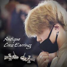 KPOP BTS Bangtan Boys JIMIN Antique Cross Earrings Made In Korea Hot Item 1Pair