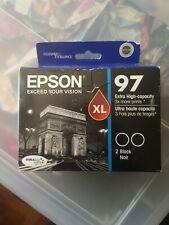 EPSON 97 BLACK TWIN PACK INKJET CARTRIDGES • NEW