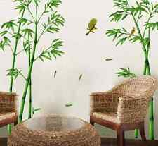 1 Set Bamboo Mural Green Removable Craft Art Wall Stickers Home Decor Decals
