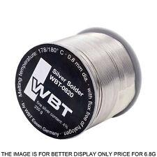 2m SOLDER Germany Original WBT-0820 Wire Soldering 0.8mm 4% Ag Silver Solder