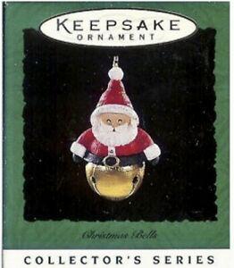 Hallmark 1996 Keepsake Miniature Ornament Christmas Bells Santa -  2nd In Series