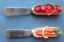 Two Boston Vegetable Warehouse Spreader one tomato and one carrot handle