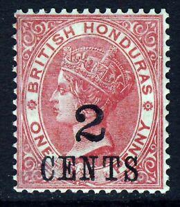 BRITISH HONDURAS Queen Victoria 1888 2c. Surcharge on 1d. SG 37 MINT