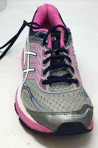 ASICS GT-2000 Womens Size 10 Running Shoes Gray Pink White T760N