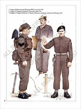 PLANCHE UNIFORM PRINT WWII Armée canadienne Canadian Armed Forces Canada Army
