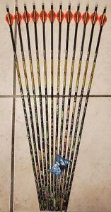 1 dz Carbon Express Mayhem Hunter 250 arrows (400 spine)w Blazer vanes-will cut