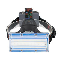 Super Bright Wide Angle Headlamp Rectangle Head Light USB Camping Head Torch