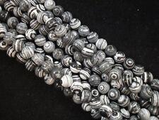 Gemstone Beads Black Lace Malachite 8mm Round Beads 35cm Strand FREE POSTAGE