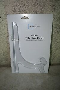 "MainStays 8"" Clear Acrylic Tabletop Easel for Decorative Plates Plaques & Photos"
