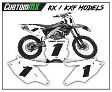 KAWASAKI KX KXF MOTOCROSS BACKGROUNDS NUMBER BOARDS GRAPHICS 85 125 250 450 500