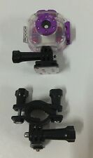 GENUINE UNDERWATER HOUSING AND CLAMP FOR VTECH KIDIZOOM ACTION CAM PURPLE NEW