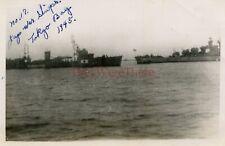 *WWII photo- Captured Japanese Navy KAMISHIMA Minelayer ship- TOKYO BAY Japan*2