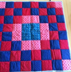 Quilted Baby Playmat Handmade Sewn Light Fabric Washable Double Sided 90cm V427