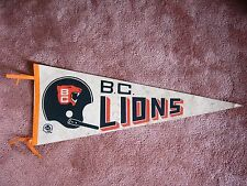 VINTAGE EARLY 1970'S B.C. LIONS CFL FOOTBALL PENNANT FLAG BC SHARP!!