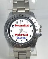 Personalized Quartz Watch 41mm Case 20mm Bracelet Stainless Steel Silver Custom