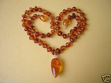 Natural Amber Necklace with Holland Shoe/Clog Trailer 8,9 g/39, 5 cm Amber