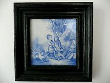 Creil Montereau carreau ancien en céramique de signé J. Fleury période 1840-1875